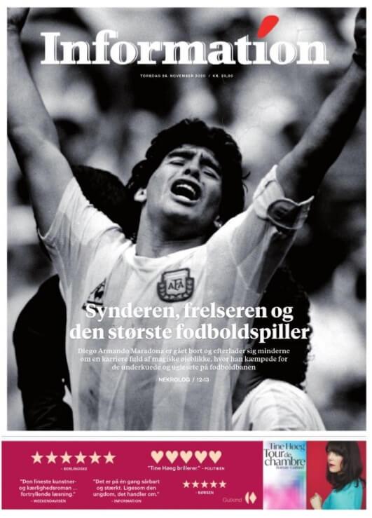 La Prensa Mundial despide a Diego Armando Maradona