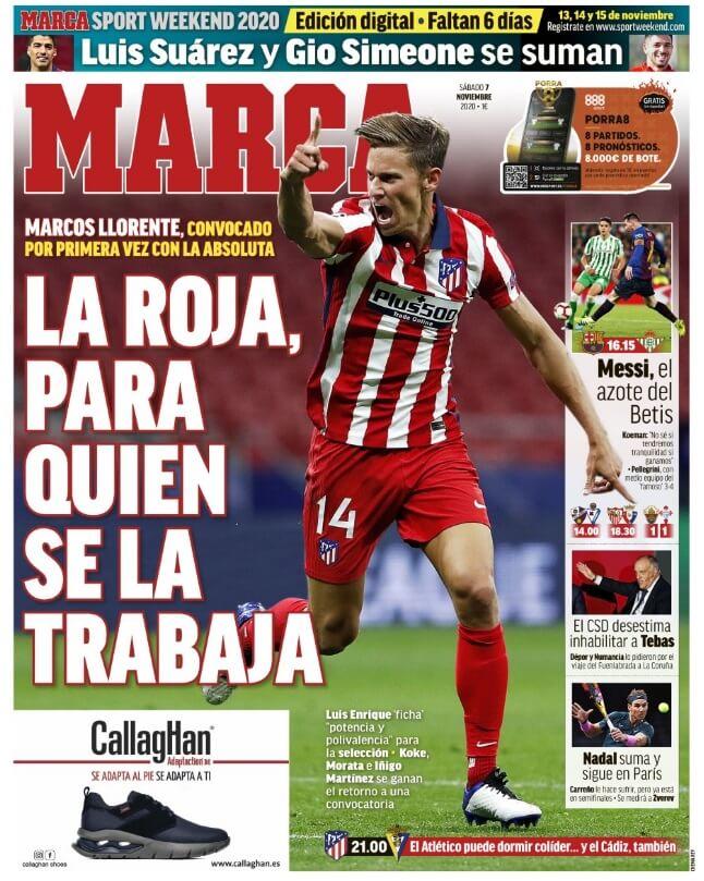 Portadas Diarios Deportivos Sábado 7/11/2020
