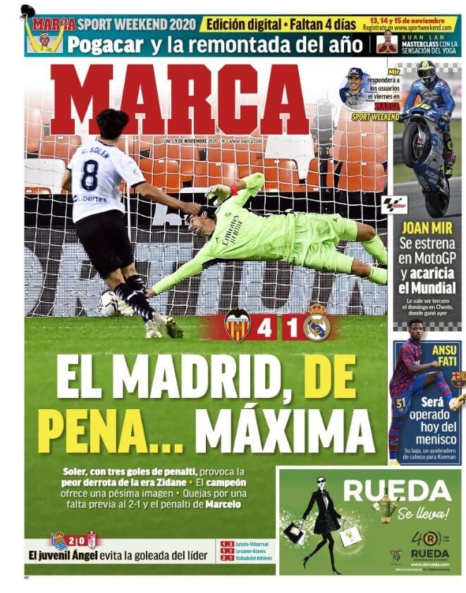Portadas Diarios Deportivos Lunes 9/11/2020