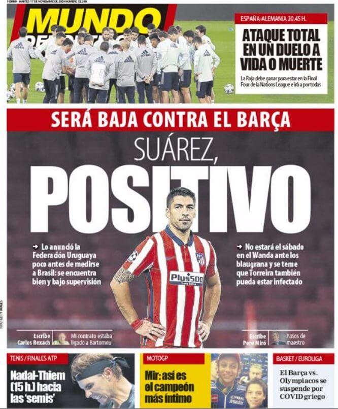 Portadas Diarios Deportivos Martes 17/11/2020