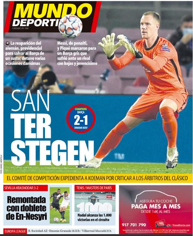 Portadas Diarios Deportivos Jueves 5/11/2020