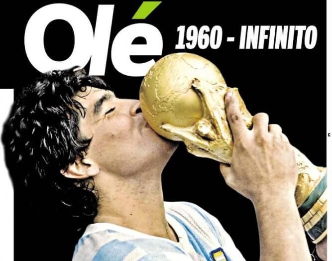 La Prensa Mundial Despide a Diego Maradona