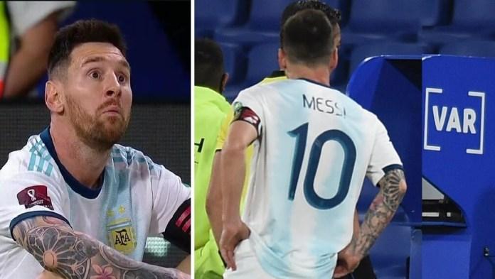Gol anulado a Argentina por el VAR y Messi estalla