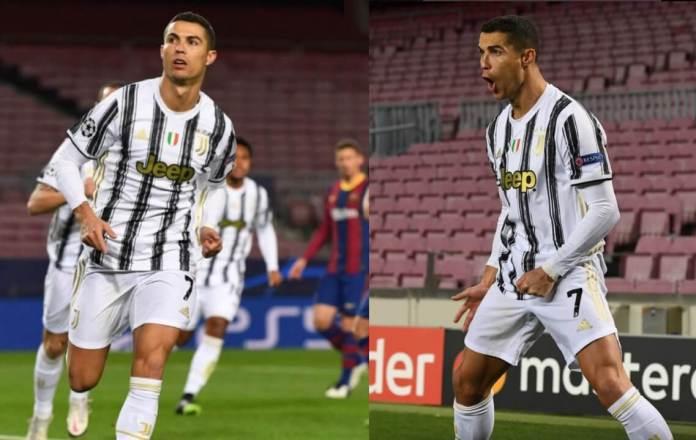 Cristiano Ronaldo marca en el Camp Nou