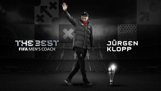 Jürgen Klopp Premio The Best al Mejor DT del 2020