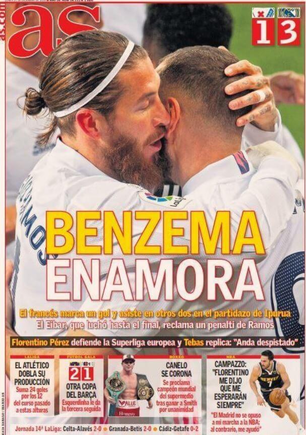 Portadas Diarios Deportivos Lunes 21/12/2020