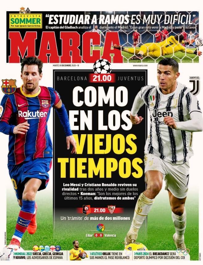 Portadas Diarios Deportivos Martes 8/12/2020