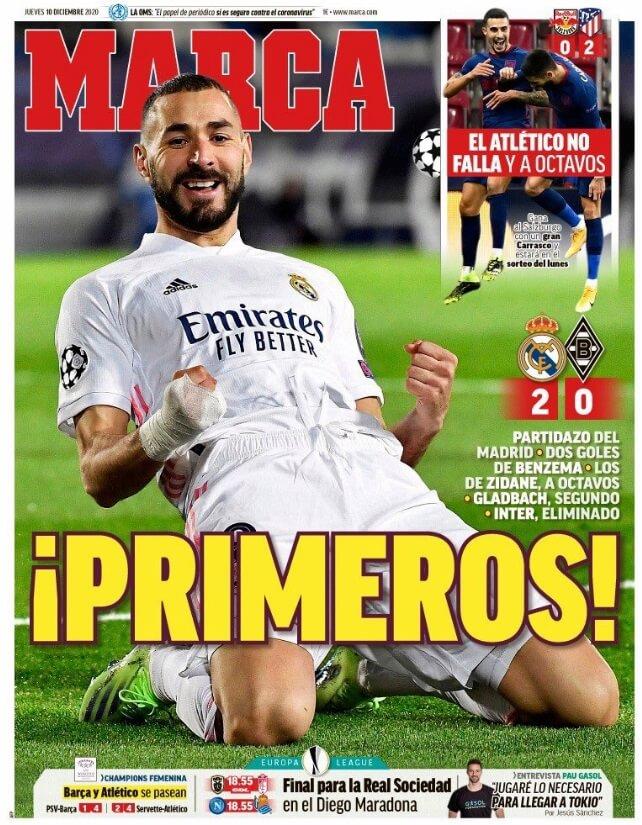 Portadas Diarios Deportivos Jueves 10/12/2020