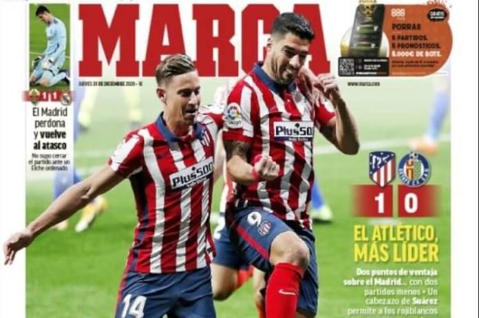 Portadas Diarios Deportivos Jueves 31/12/2020