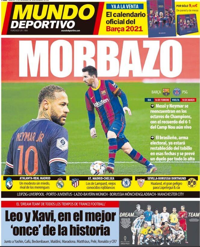 Portadas Diarios Deportivos Martes 15/12/2020