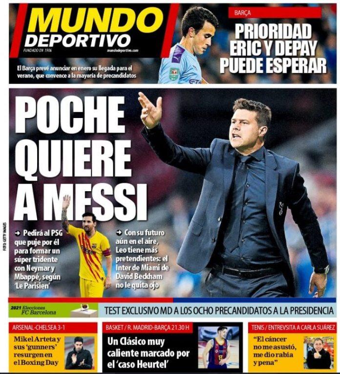 Portadas Diarios Deportivos Domingo 27/12/2020
