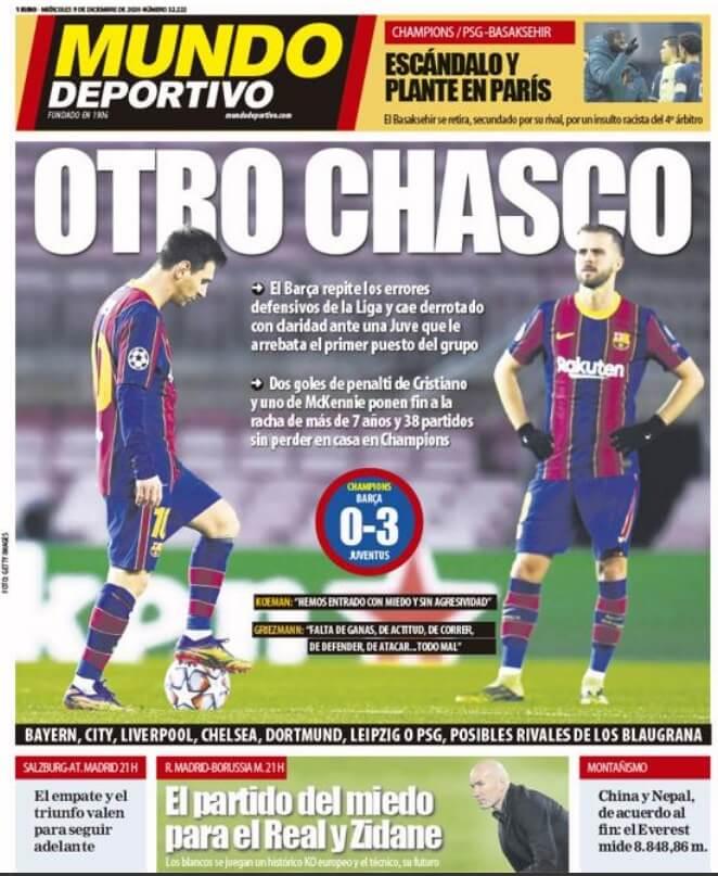 Portadas Diarios Deportivos Miércoles 9/12/2020