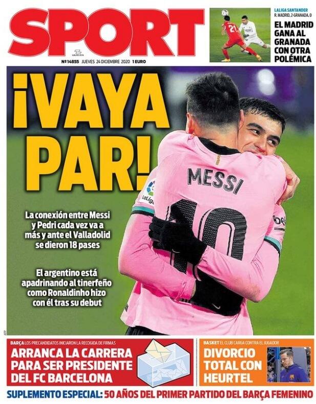 Portadas Diarios Deportivos Jueves 24/12/2020