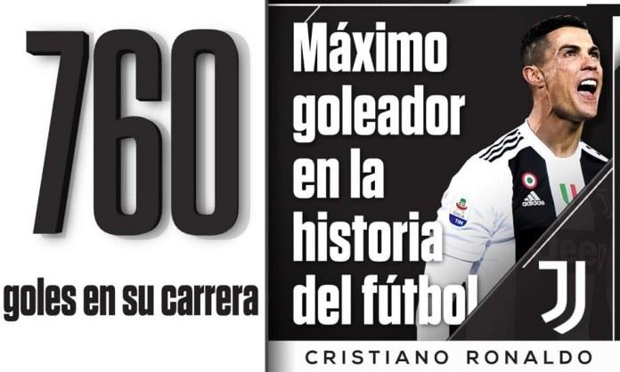 Cristiano Ronaldo Maximo goleador de la Historia