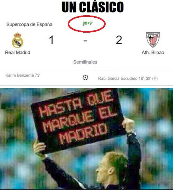 Memes Real Madrid-Athletic Supercopa 2021
