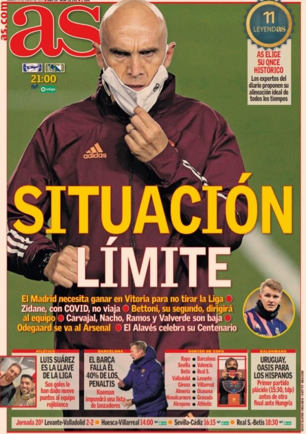 Portadas Diarios Deportivos Sábado 23/1/2021