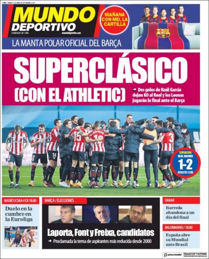 Portadas Diarios Deportivos Viernes 15/1/2021