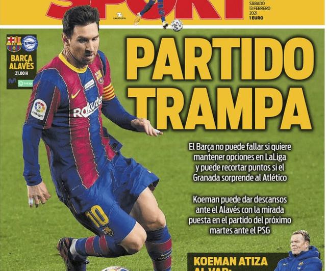 Portadas Diarios Deportivos Sábado 13/2/2021