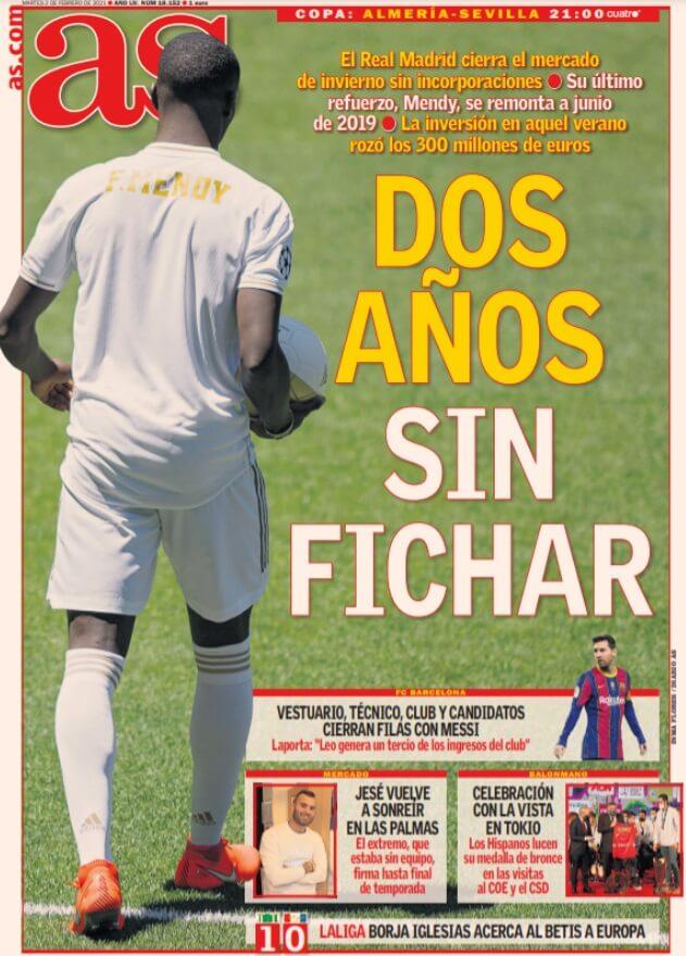 Portadas Diarios Deportivos Martes 2/2/2021