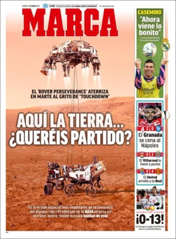Portadas Diarios Deportivos Viernes 19/2/2021