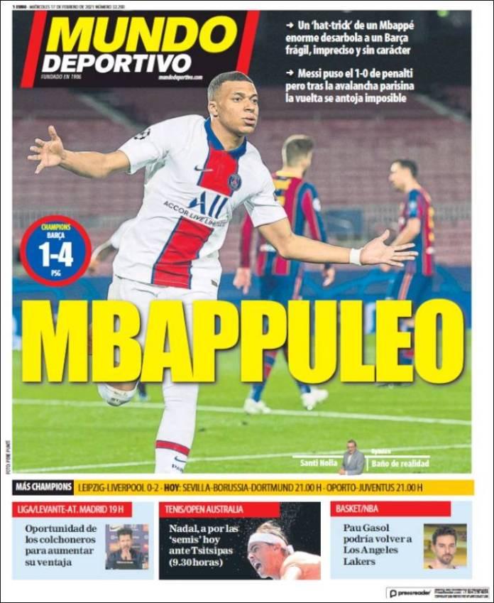 Portadas Diarios Deportivos Miércoles 17/2/2021