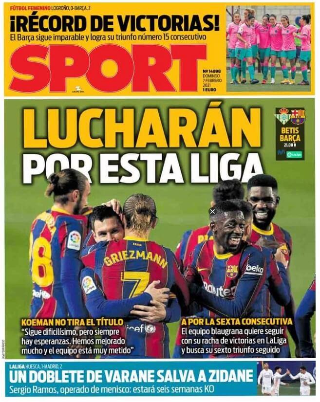 Portadas Diarios Deportivos Domingo 7/2/2021