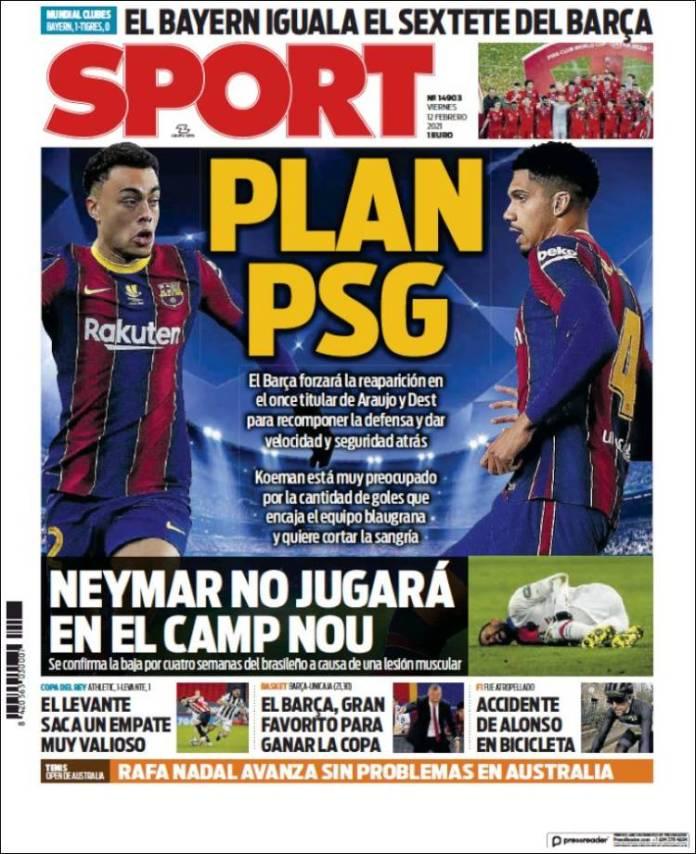 Portadas Diarios Deportivos Viernes 12/2/2021