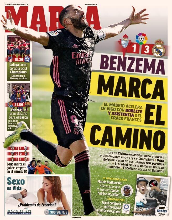 Portadas Diarios Deportivos Domingo 21/3/2021