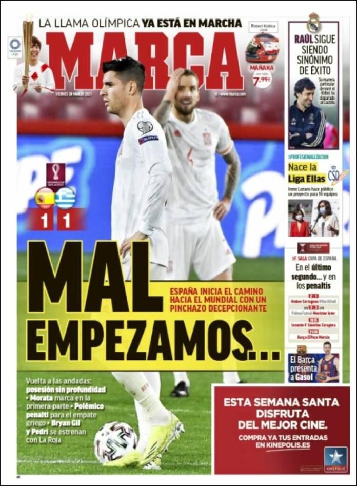 Portadas Diarios Deportivos Viernes 26/3/2021