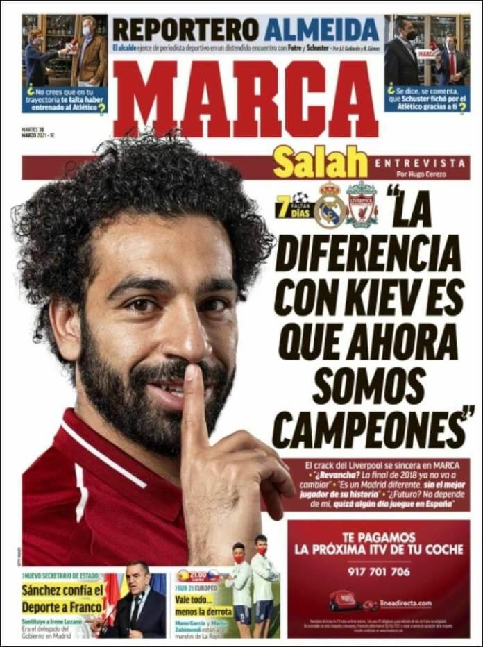 Portadas Diarios Deportivos Martes 30/3/2021