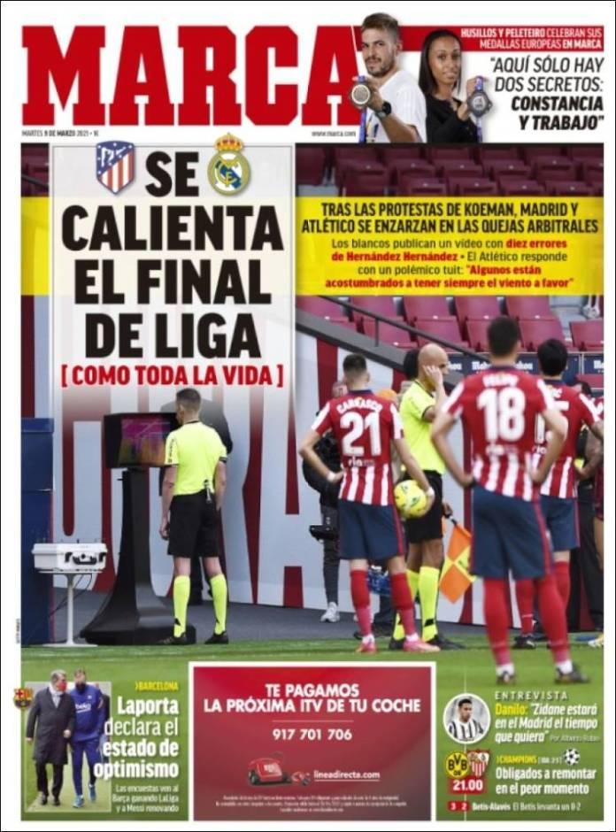 Portadas Diarios Deportivos Martes 9/3/2021