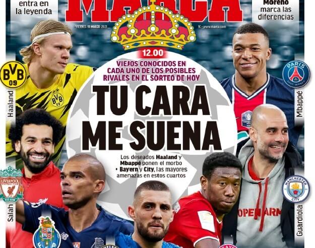 Portadas Diarios Deportivos Viernes 19/3/2021