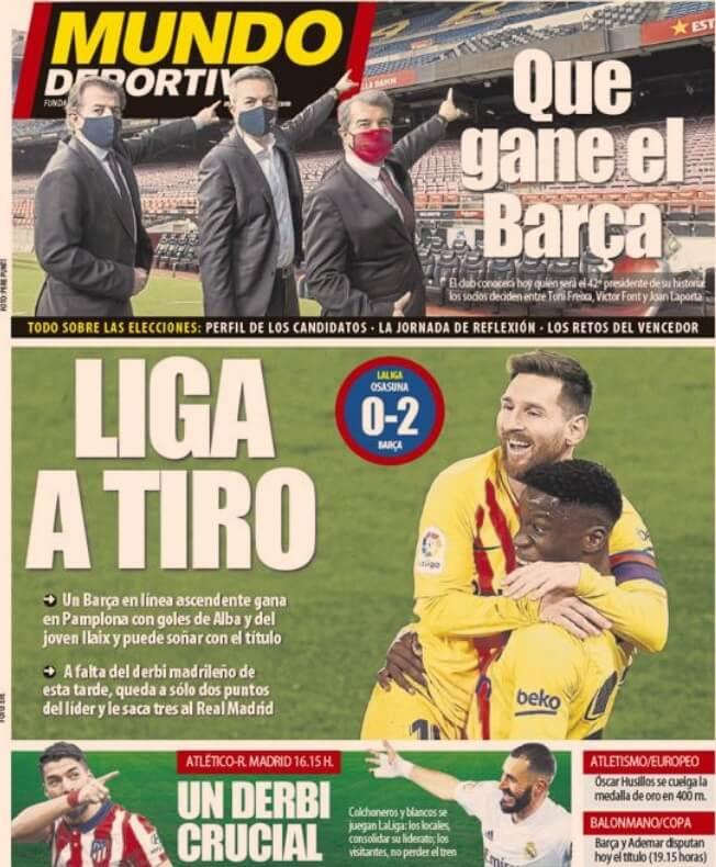 Portadas Diarios Deportivos Domingo 7/3/2021