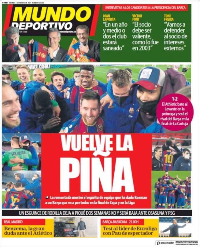 Portadas Diarios Deportivos Viernes 5/3/2021