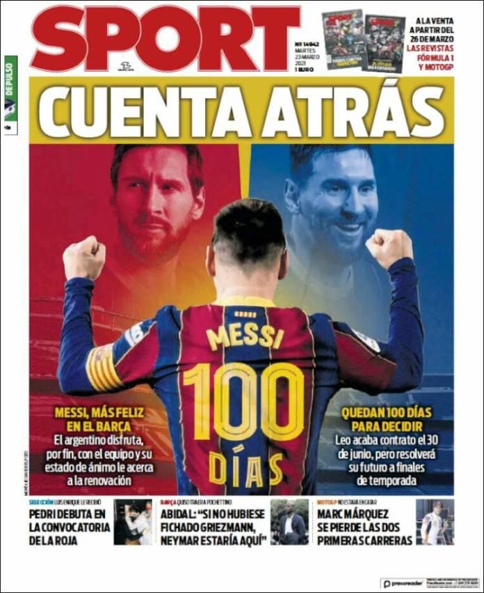 Portadas Diarios Deportivos Martes 23/3/2021