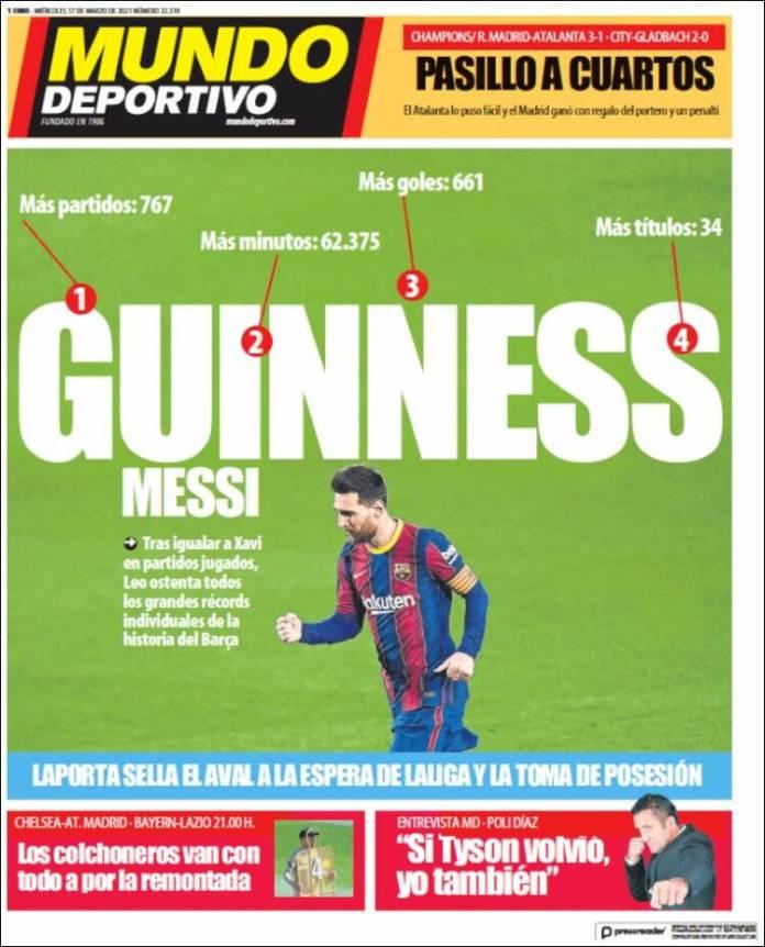 Portadas Diarios Deportivos Miércoles 17/3/2021