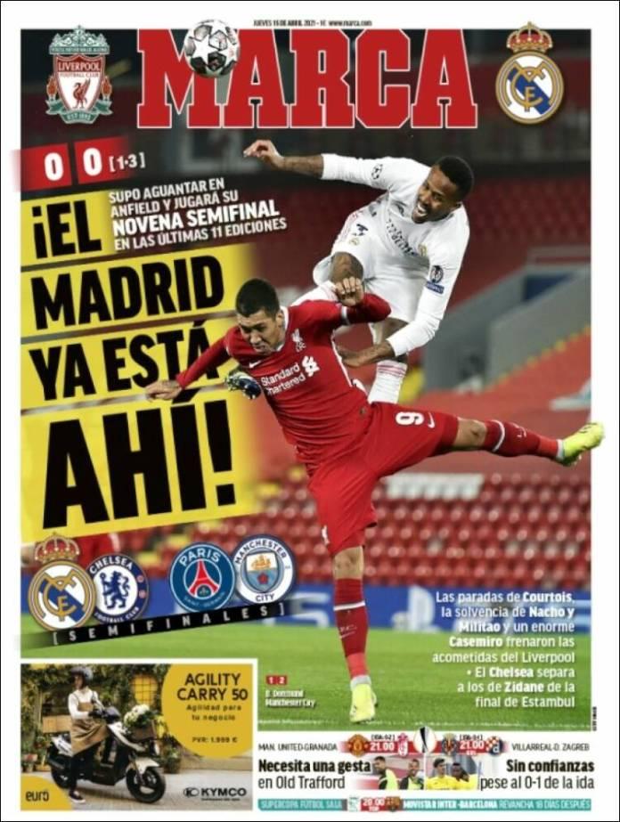 Portadas Diarios Deportivos Jueves 15/4/2021
