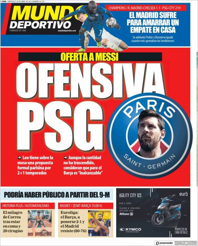 Portadas Diarios Deportivos Miércoles 28/4/2021