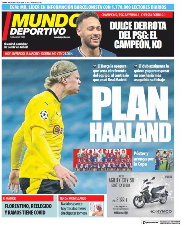 Portadas Diarios Deportivos Miércoles 14/4/2021