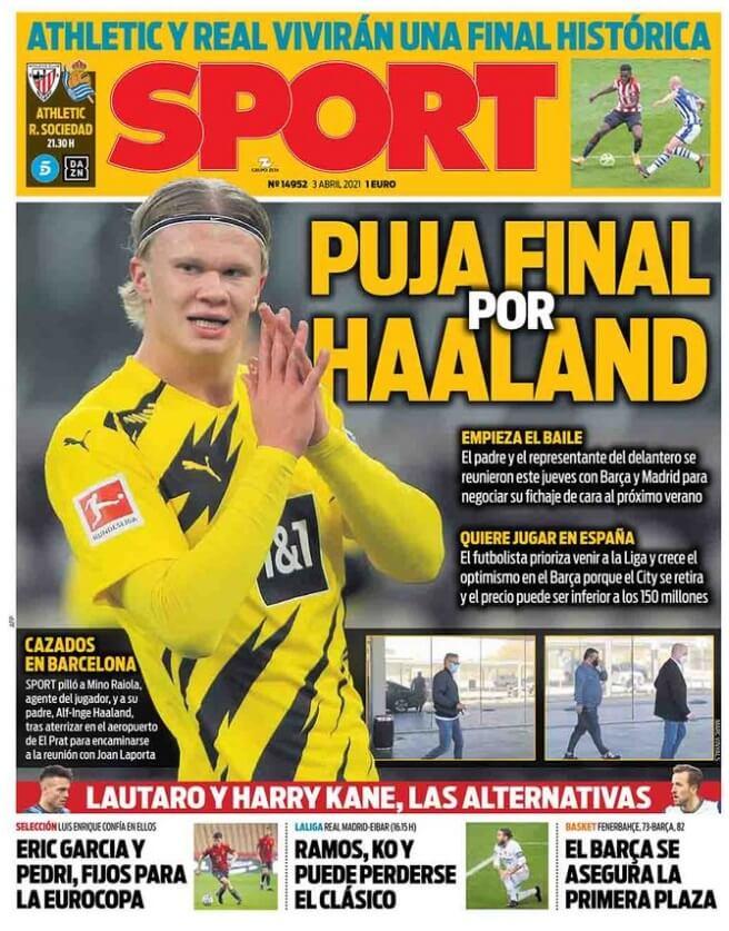Portadas Diarios Deportivos Sábado 3/4/2021