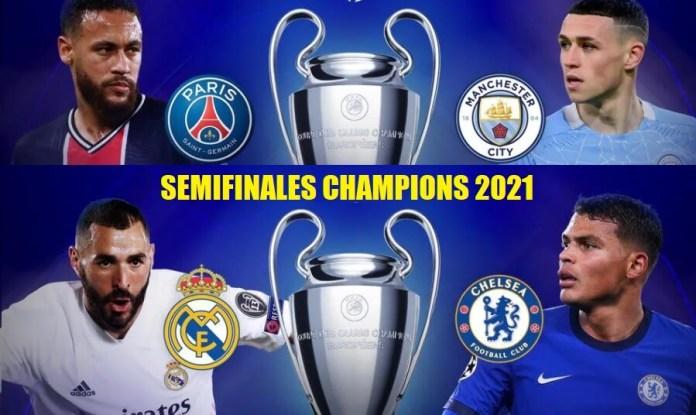 Partidos Cuartos Champions League 2021