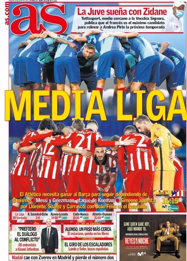 Portadas Diarios Deportivos Sábado 8/5/2021