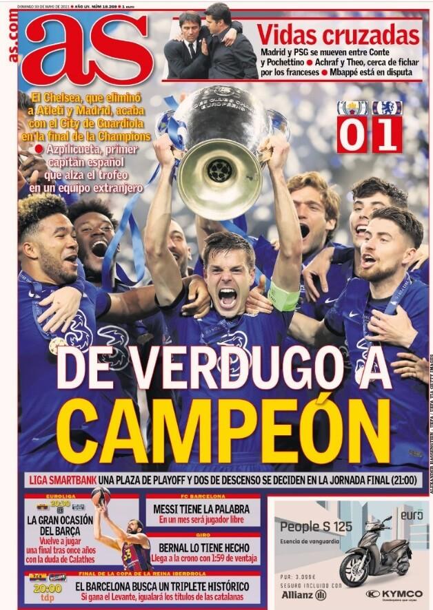 Portadas Diarios Deportivos Domingo 30/5/2021