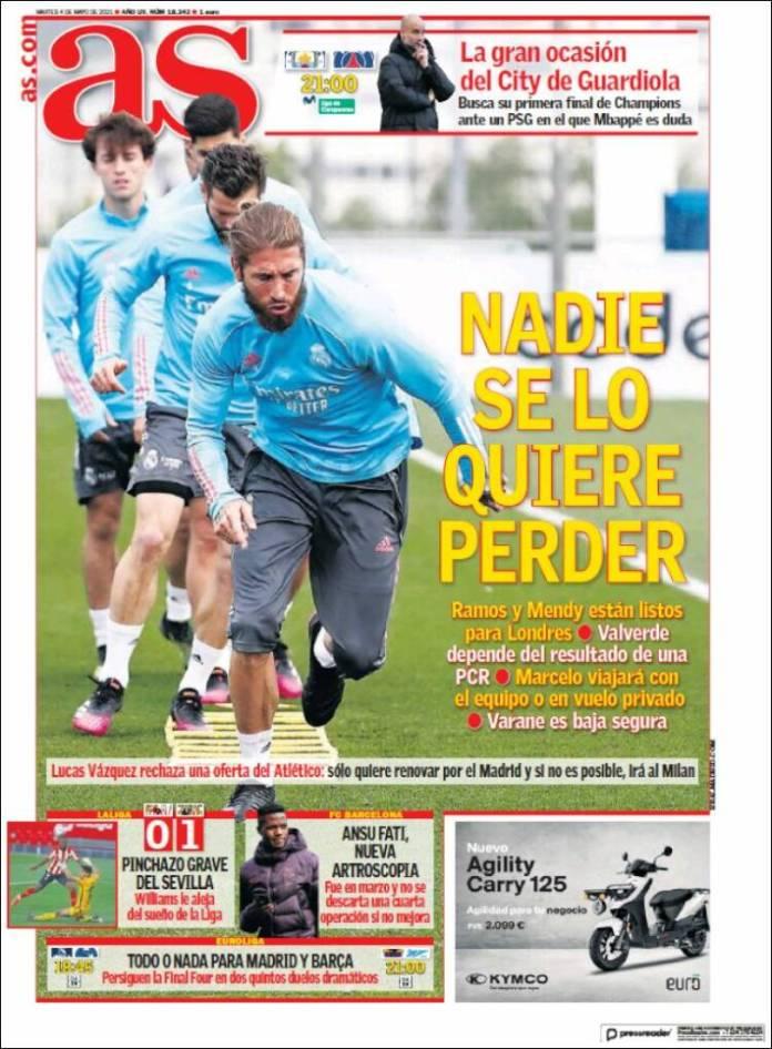 Portadas Diarios Deportivos Martes 4/5/2021