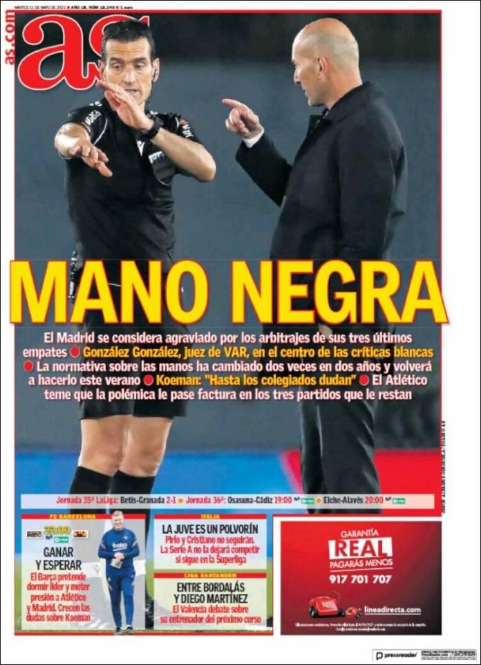 Portadas Diarios Deportivos Martes 11/5/2021