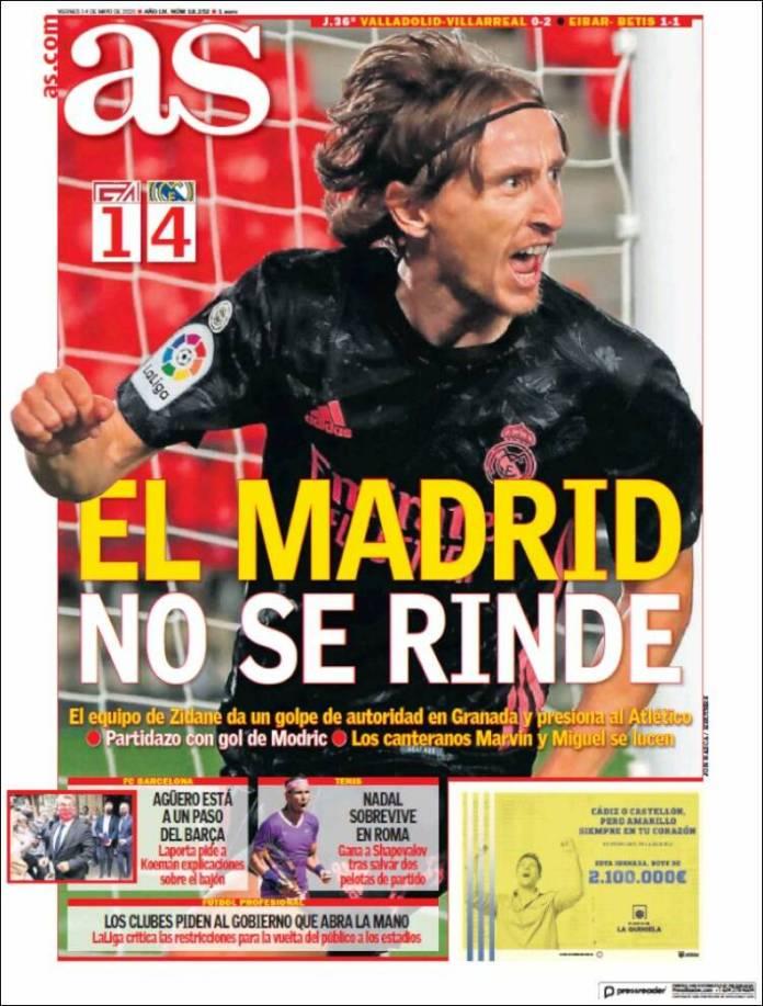 Portadas Diarios Deportivos Viernes 14/5/2021