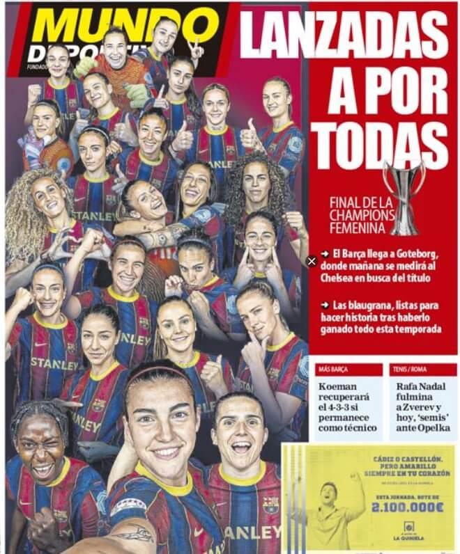 Portadas Diarios Deportivos Sábado 15/5/2021