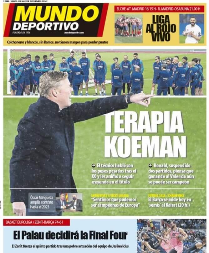 Portadas Diarios Deportivos Sábado 1/5/2021