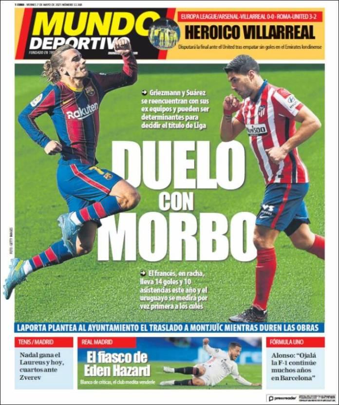 Portadas Diarios Deportivos Viernes 7/5/2021