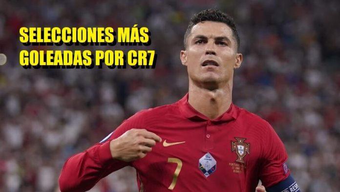 Selecciones mas Goleadas por Cristiano Ronaldo